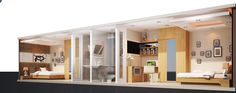 2 bedroom shipping container from the side
