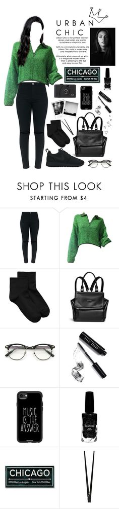 """""""~ Back in Black ~"""" by lovelylisaaa ❤ liked on Polyvore featuring Jean-Paul Gaultier, HUE, Givenchy, ZeroUV, Bobbi Brown Cosmetics, Casetify, Azature, CB2 and NIKE"""