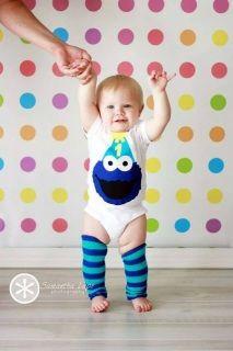 Cookie Monster Birthday Shirt {www.ffaprincess.com}
