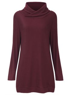 Sale 18% (21.99$) - Casual Women Pure Color Hight Collar Hedging  Long Sleeve Sweaters