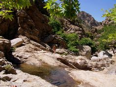 The favorite hikes of Ikaria are the many rugged unexplored rivers and waterfalls in the interior. Hiking Places, Greek Islands, Waterfalls, Rivers, Greece, Holidays, World, Interior, Travel