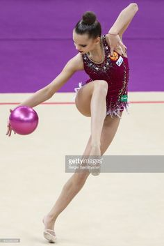 Rhythmic gymnast Dina Averina of Russia performs her individual ball routine during a qualification event at the 2017 Alina Kabaeva Gazprom Champions Cup as part of the Gazprom for Children Program. Sergei Savostyanov/TASS