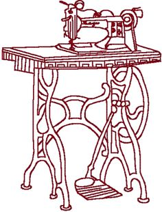 Redwork Sewing Machine Embroidery Design