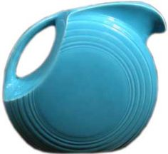 vintage Fiesta Disk Water Pitcher - love this art deco inspired piece, made from molds designed in the 1930s