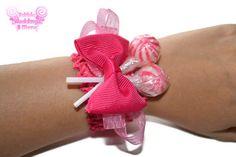 Hot Pink Lollipop Wrist Corsage Prom Corsage by EdibleWeddings, $7.99