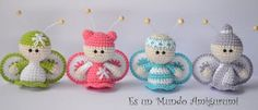 We continue to produce healthy toys and share what we produce with Amigurumi recipes.You can find Amigurumi knitting models on our website. Cute Crochet, Crochet Toys, Crochet Baby, Crochet Gratis, Crochet Dolls Free Patterns, Crochet Angels, Baby Ornaments, Butterfly Baby, Cute Dolls