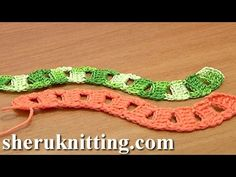 Crochet Curved Cord Square Holes Tutorial 12 Two-Double Crochet Cluster Stitch