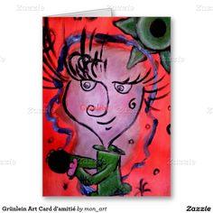 Grünlein Art Card d'amitié Carte De Vœux