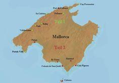 Ausflugsziele auf Mallorca - Karte und Übersicht