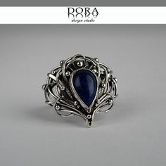 Silmarien's ring silver handmade ring with by DORAbluedesign