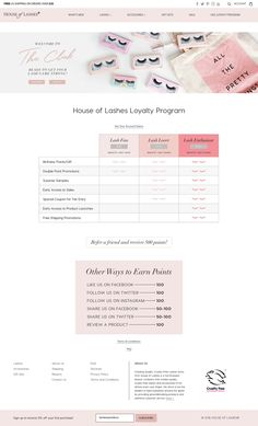 This explainer page from House of Lashes is pretty, fresh, and fabulous.