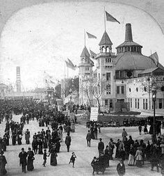 The #Midway at 1893 Chicago World's Fair #Chicago #WorldsFair