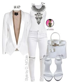 A fashion look from September 2015 featuring American Vintage tops, SLY 010 blazers and FiveUnits jeans. Browse and shop related looks. White Fashion, Look Fashion, Autumn Fashion, Fashion Outfits, Womens Fashion, Club Fashion, Casual Dress Outfits, Stylish Outfits, Mode Style