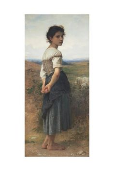 The Young Shepherdess, 1885 Giclee Print by William-Adolphe Bouguereau at Art.com
