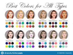 Soft Autumn Deep, Warm Autumn, Color Me Beautiful, Spring Color Palette, Spring Colors, Soft Summer Palette, Deep Winter Colors, Skin Undertones, Seasonal Color Analysis