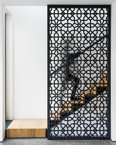 Paul Raff Studio designed the harmonious Echo House that pays homage to the family's Asian Canadian heritage, resulting in a tranquil home in Toronto. Design Entrée, House Design, Interior Design, Graphic Design, Stair Railing, Stairs, Jaali Design, Partition Design, Decorative Screens