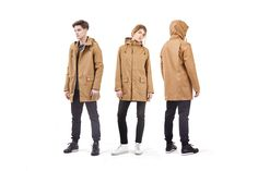QWSTION – All Weather Coat – minimalist, weather-proof coat for everyday urban work and leisure. Based on breathable, organic CottonShell® fabric Garment Manufacturing, New Today, Military Jacket, High Fashion, Organic Cotton, Raincoat, Weather, Urban, Sleeves