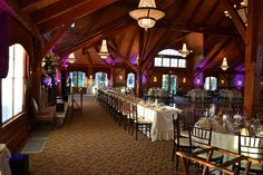 Grand Sequoia Ballroom At Tewksbury Country Club With Tables Set For An Elegant Wedding