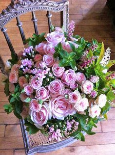 Pretty pink bouquet.