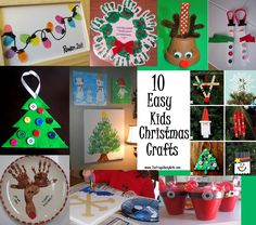 Here are 10 fun and easy Christmas and Holiday crafts you can do with your kids so Winter break doesn't seem so long! 1. Thumbprint Christmas lights and Thumb print reindeer are just a few great ideas featured on We Have it All 2. Make a felt and button Christmas Tree Ornament. 3. Paint Hand Print …