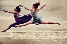 dance... the beach makes me feel like this!