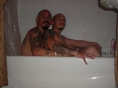Cholos in the tub.
