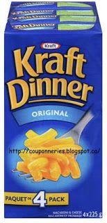 Coupons et Circulaires: .75¢ sur un emballage de 4 boîtes de KRAFT DINNER