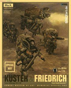 SF3D Maschinenkrieger: Küster und Friedrich, Modell-Bausatz ... http://spaceart.de/produkte/sfd005.php