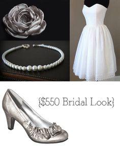 $550 Bridal Look: Elegant bride on a budget