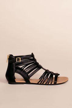Riko Gladiator Sandals - Black