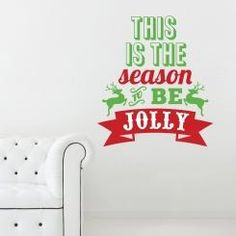 This is the Season to be Jolly Wall Sticker Adesivo da Muro