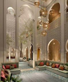 Décoration marocaine – salon marocain – décoration d'intérieur moderne