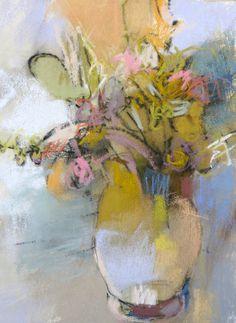 Petite Bouquet 2 12x9 pastel on paper by Debora Stewart FW Gallery, Baton Rouge