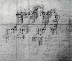 Baldassarre Peruzzi, prospective view of St Peter's. Considered by some to date back to the years of Julius II, the prospective indicates elements of successive projects of Bramante and, therefore, can be considered the architects ideal solution