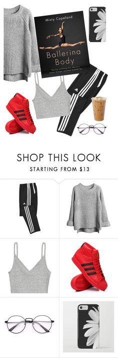 """Ballerina Body"" by elliewriter ❤ liked on Polyvore featuring H&M, adidas and DateWithABook"