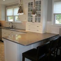 William Adams Design - kitchens - tiled floor, white Shaker cabinets, Shaker cabinets, white kitchen cabinets, white cabinetry, white kitche...
