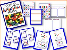 Using letter beads in word work stations including a FREEBIE to get you started.