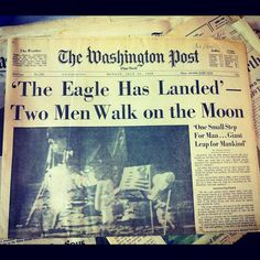 """@spj_pics's photo: """"Historic front page, part of a set of Apollo 8 & 11 coverage for auction. #EIJ12 #LDF #journalism"""""""