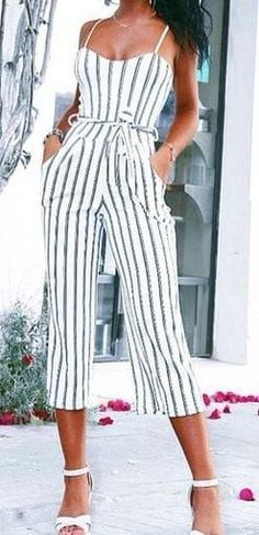 5fe175c94272  Summer  Outfits   striped jumpsuit Striped Jumpsuit