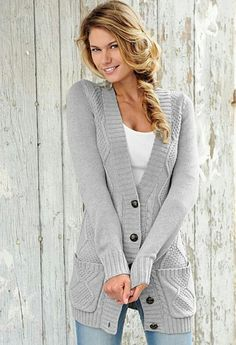 Comfy long cardigan. Love this!