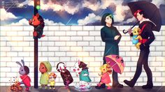 . When it rains . by Lucia Garcia  on http://ArtCorgi.com/?utm_source=pinterest&utm_medium=pin&utm_campaign=referral=34 -- markiplier, jacksepticeye, five nights at freddy's, fnaf, mark, jack, fanart, septiplier, Commission art online | commission art |  commissioned art |  family portraits |  anniversary gifts |  illustrations |  painting |  drawing |  before and after |  commissions |  hire an artist |  anime |  manga | portraits | anime commission