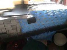 Привет всем как и обещала Вяжем на вязальной машине Нева 5 узор сетка-частичным вязанием