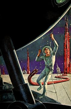 Ed Emshwiller - Galactic Derelict, 1964. / The Science Fiction Gallery