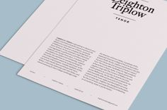 Leighton Triplow — Tenor by Stefan Imbesi, via Behance