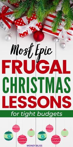 Are you ready for a frugal Christmas by Money Bliss? Plenty of awesome gift ideas when you're broke. Find the best frugal living tips to find thoughtful gifts don't have to break the budget. Your kids will love the traditions. Use these money saving tips to help with gifts for kids, decorations, dinner, and diy ideas, too! Your Christmas will be magical when you download our Christmas budget worksheets. Merry Christmas, Dollar Tree Christmas, Christmas On A Budget, Christmas Gifts For Girls, Kids Christmas, Christmas Crafts, Last Minute Christmas Gifts Diy, Christmas Planning, Christmas Goodies