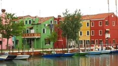 Colourful fishing village of Burano as you enter port - Photo by Edwin M Venice Tours, Fishing Villages, Cool Places To Visit, The Good Place, Boat, Color, Wanderlust, Venice, Entertainment