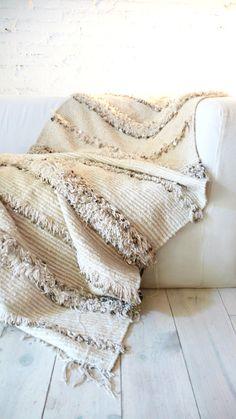 Handira - Vintage Moroccan Wedding Blanket MUIMA*