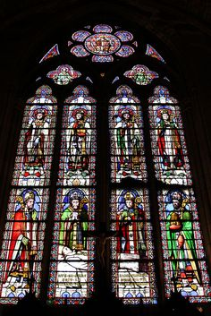 Notre Dame Stained Glass, Paris