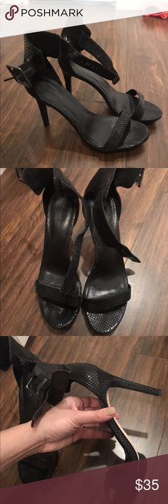 Calvin Klein Vivian Snake Sandals Heels 8.5 Excellent used condition! Please check the photos:) Calvin Klein Shoes Heels