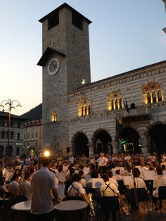 International Youth Orchestra performs in Piazza del Duomo ~ Como, Italy